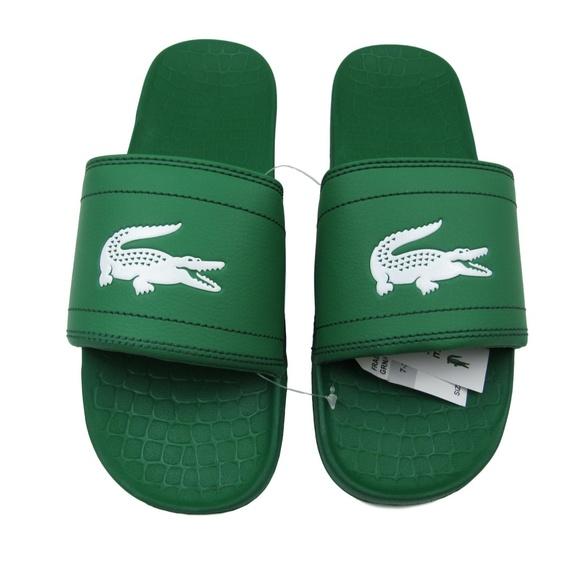 f0cb738b4 Lacoste Fraisier Platform Slides Sandal Size 10
